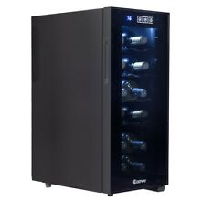 12 Bottles Thermoelectric Wine Cooler Storage Temperature Display Freestanding