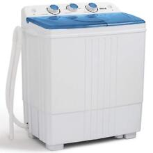 DELLA Small Compact Portable Washing Machine Top Load Laundry Washer with