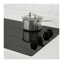 IKEA Eldig 4 Element Glass Ceramic Cooktop  Black