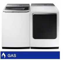 Samsung 5 2CuFt Top Load Washer 7 4CuFt GAS Dryer with Multi Steam Technology