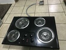 Electric Stove Top High Powered 4 Four  Burners Cooktop Range Oven Kitchen Black