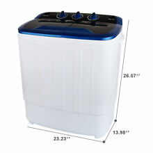 13LBS Portable Washing Machine Mini Compact Twin Tub Laundry Washer Spin Dryer