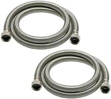 Universal 3 4 in  Stainless Steel High Efficiency Washing Machine Hose  2 Pack