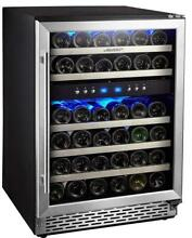 Phiestina 24 Inch Built in or Free standing 46 Bottle Wine Cooler