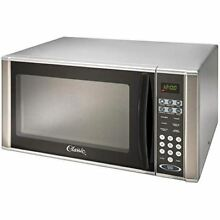 Classic 1000 Watt 1 1 Cu Ft  Grey Countertop Microwave Oven  with Stainless Stee