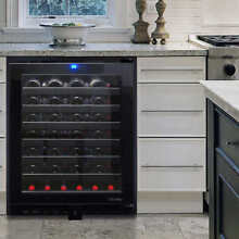 Vinotemp 54 Bottle Built in or Free Standing Touch Screen Wine Cooler VT 54TS