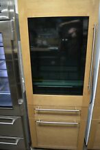 Monogram 30  Glass Door Panel Ready Bottom Freezer Refrigerator ZIK30GNHII