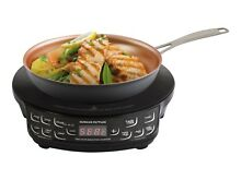 Hard Anodized Fry Pan Induction Hot Plate 9 In  Black Color Programmable Time