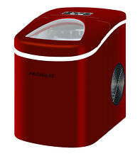 Counter Top Ice Maker Red Color Bright LED Indicators Large See Through Window