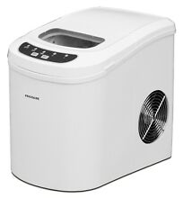 Compact Countertop Design Ice Maker Machine White Color Digital Control Panel
