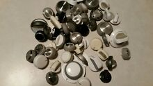 50 lot used appliance knobs  washing machine dryer oven  Kenmore Whirlpool   1