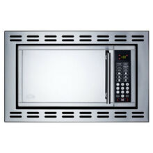 Summit OTR24 24in Wide 0 9 Cu  Ft  900 Watt Built In Microwave   Stainless Steel