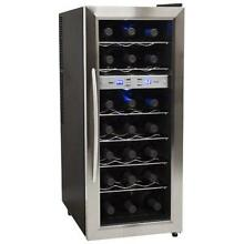 EdgeStar TWR215ESS 13 Inch Wide 21 Bottle Wine Cooler with Dual Cooling Zones