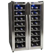 EdgeStar TWR325ESS 21 Inch Wide 32 Bottle Wine Cooler with Dual Cooling Zones