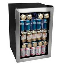 EdgeStar BWC90SS Stainless Steel 17 W 84 Can Beverage Cooler with Extreme Cool