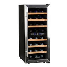 Koldfront TWR247ESS 14 Inch Wide 24 Bottle Wine Cooler with Dual Cooling Zones