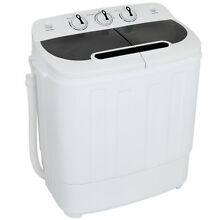 Top Load Compact Home Wash Machine Portable Twin Tub Washer 13lbs Fast Dryer