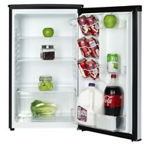 Mini Refrigerator Storage w  Freezerless Design Compact Stainless Steel Black