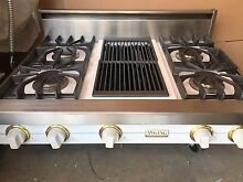 Viking 36  White  Range Top   sealed burners   with 4   grill in Los Angeles