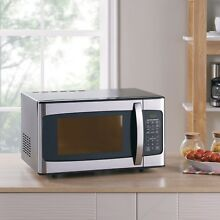 Stainless Steel Microwave 1 1 Cu  Ft  1000 Watt With Easy To Read LED Display