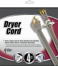 Coleman Cable 09124 4  Grey Dryer Cord