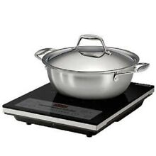 NEW TRAMONTINA 3 PIECE INDUCTION COOKING SYSTEM PRECISION HEAT CONTROL 1500 WATT
