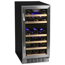 EdgeStar CWR262DZ 15 W 26 Bottle Built In Wine Cooler with Dual Cooling Zones