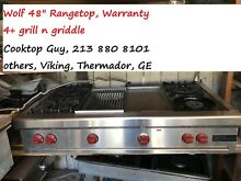 Wolf 48   Stainless Gas Range  4  grill n griddle  in Los Angeles