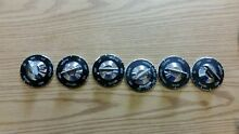 Vintage Whirlpool Oven Stove Black Aluminum Knobs Set of 6