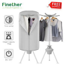 1000W Electric Clothes Dryer Wardrobe Camping Dorm Garment Timer Drying Machine