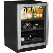 Marvel ML24BCR 24  Wide 18 Bottle and 162 Can Built In Wine and Beverage Cooler