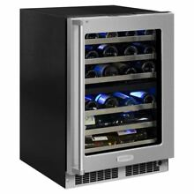 Marvel MP24WD5R 24  Wide 40 Bottle Built In Dual Zone Wine Cooler with LED Light