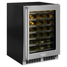 Marvel MP24WS5R 24  Wide 48 Bottle Built In Single Zone Wine Cooler with LED Lig