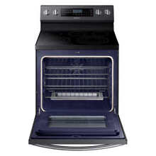 Samsung 5 9CuFt Freestanding Electric Range with True Convection in Black Stainl