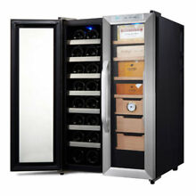 Whynter Stainless Steel 3 6 cu ft Wine Cooler   Cigar Humidor CWC 351DD