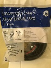 Lot of 2  NEW GE Universal 4 Prong Electric Dryer Power Cord   5 Ft   30 Amp