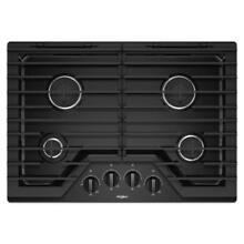 Whirlpool 30  Black 4 Burner Gas Cooktop WCG55US0HB