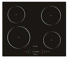 Empava EMPV IDC24 Electric Induction Cooktop with 4 Booster Burners Smooth Black