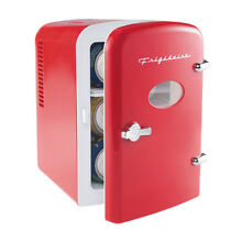 NEW  Frigidaire Mini 6 Can Retro Beverage Refrigerator   Red  EFMIS129