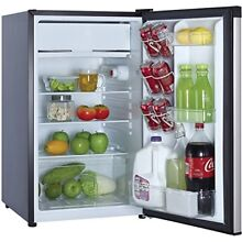 Dorm Room Mini Fridge Combo 4 4 Cu Ft Stainless Steel Compact Freezer Collage
