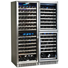 EdgeStar CWR1551DDDUAL 47 Inch Wide 310 Bottle Built In Wine Cooler with 4 Disti