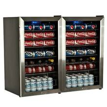 EdgeStar BWC120LTDUAL 206 Can and 10 Bottle Side by Side Beverage Coolers with U