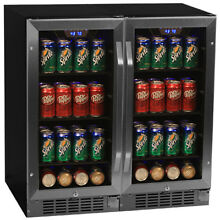 EdgeStar CBR901SGDUAL Side by Side 30 Inch Wide Built In Beverage Coolers with B