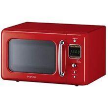 Microwave Oven Countertop Red Retro Style Home Kitchen Cooking Valentine Gift
