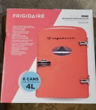 New   FRIGIDAIRE Red Retro Mini Refrigerator Fridge   AC   12V Auto
