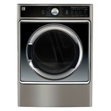 Kenmore Smart 9 0 cu  ft  Gas Dryer with Accela Steam Technology in Silver