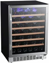 EdgeStar CWR532SZ 24 Inch Wide 53 Bottle Built In Single Zone Wine Cooler with R