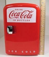 Coca Cola KWC 4U Personal Mini Fridge  12V DC Car and 110V AC Cooler