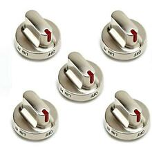 5 Pack Knobs DG64 00347B Dial Replacements For Samsung Gas Range Oven Home