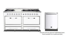 Viking Tuscany 66  Antique White Dual Fuel Range w  Dishwasher   TVDR6606GAW